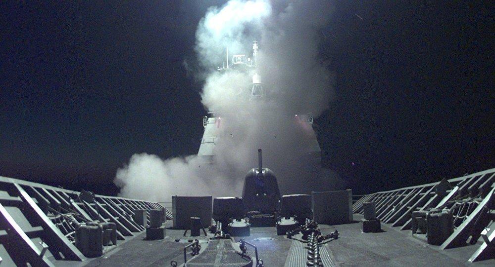 Tir d'un missile de croisière US