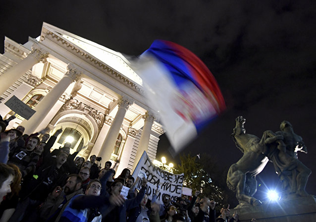 Les protestations en Serbie