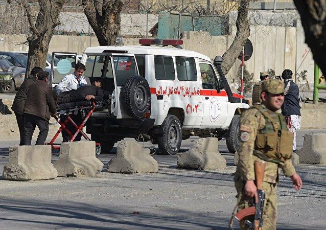 Ambulance vehicle à Kaboul. Archive photo