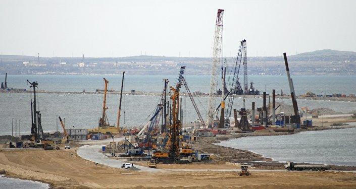 La construction du pont de Kertch en Crimée