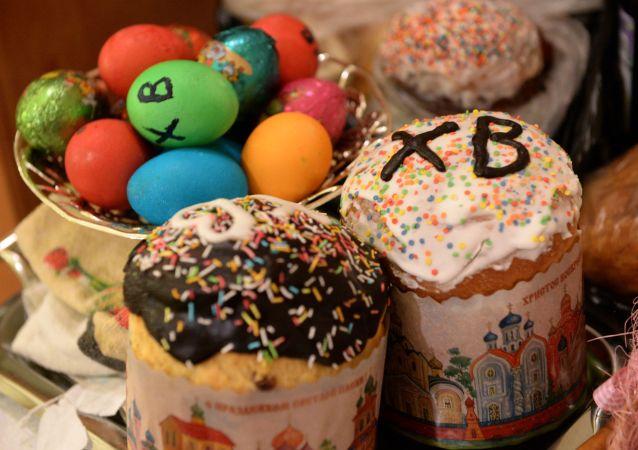 Pâques en Russie. Image d'illustration