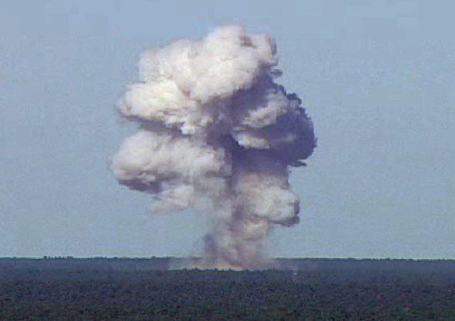 Explosion d'une bombe GBU-43/B