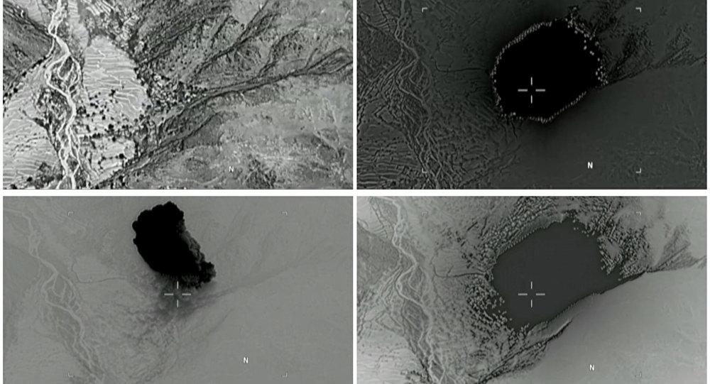 Frappe d'une bombe GBU-43/B
