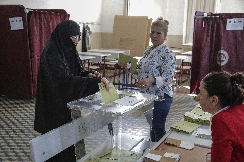 Un bureau de vote à Istanbul