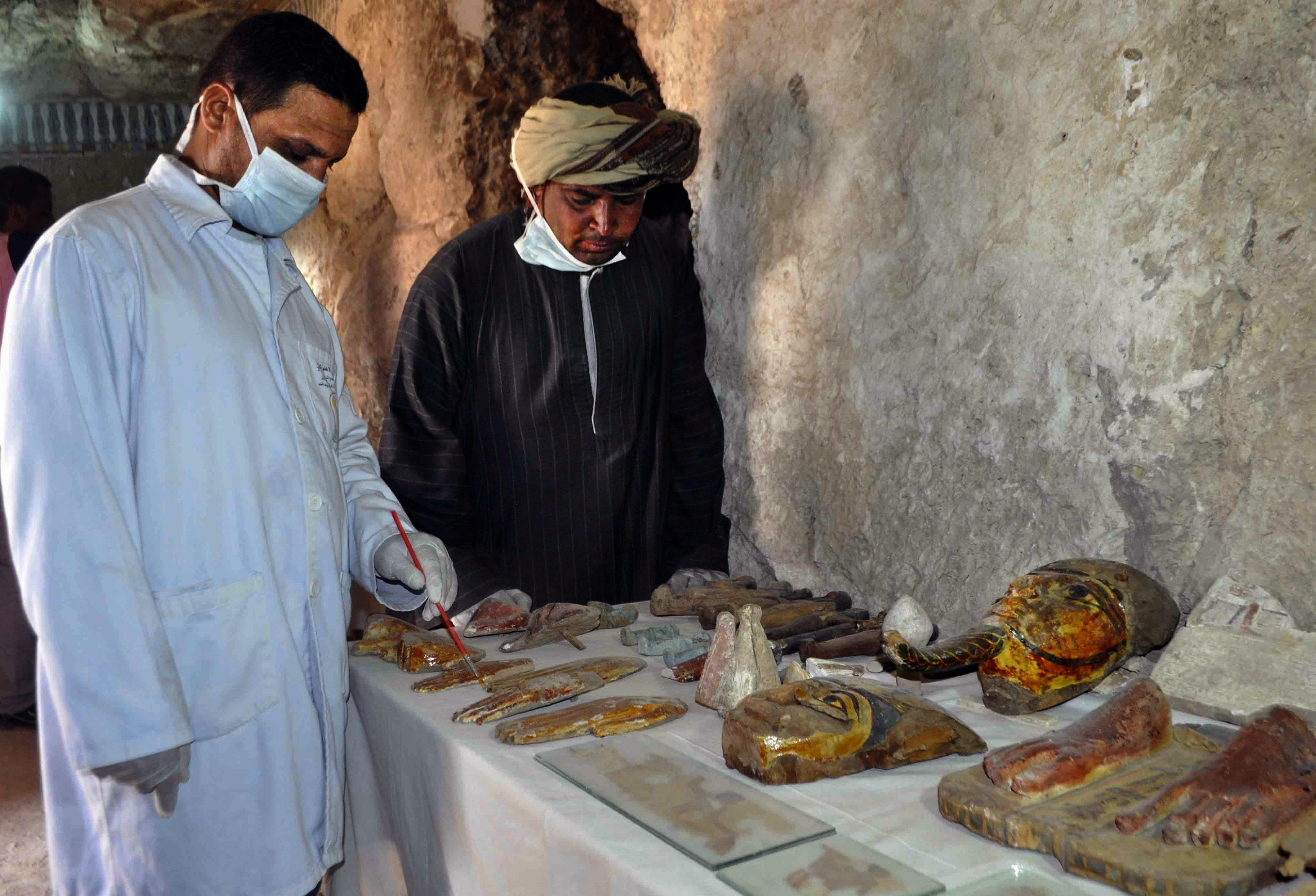 Des artefacts uniques retrouvés dans un tombeau égyptien à Louxor, Image d'illustration