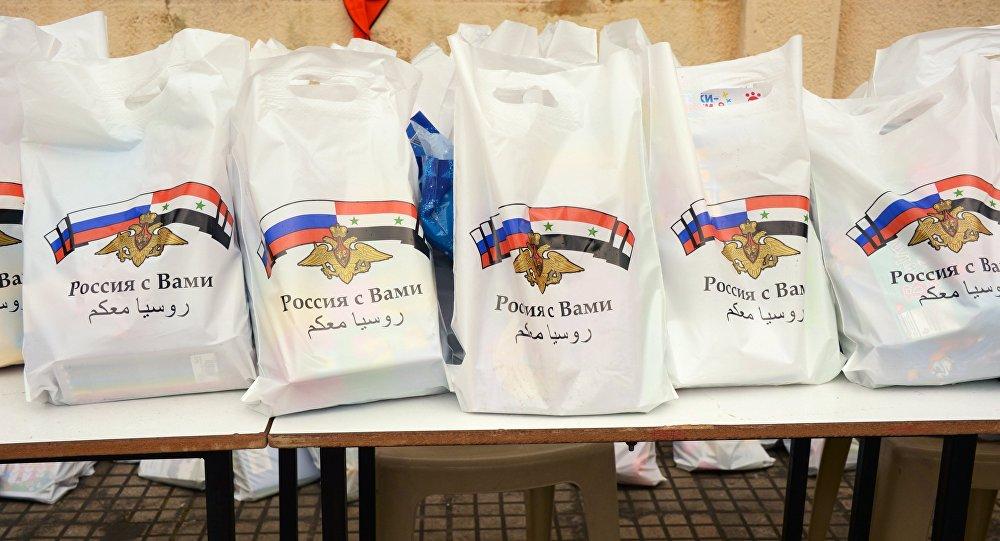 Syrie: 7,9 t d'aide humanitaire russe pour les habitants d'Alep et de Lattaquié