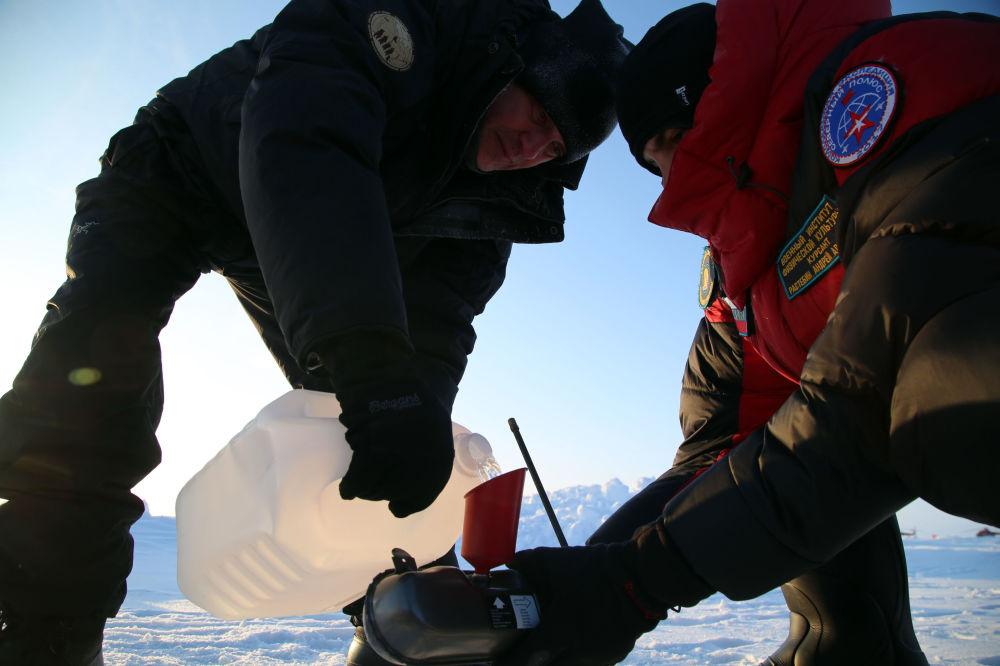 L'expédition de militaires russes au pôle Nord