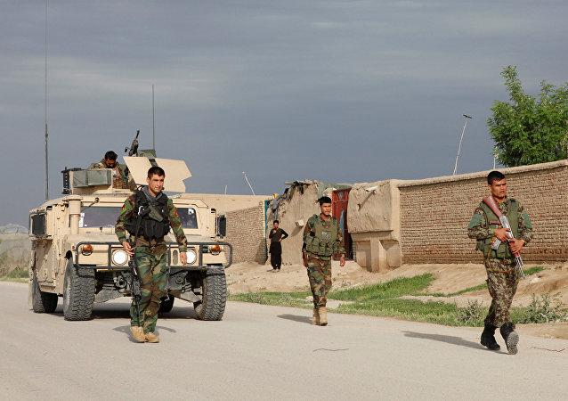 Les troupes de l'armée nationale afghane