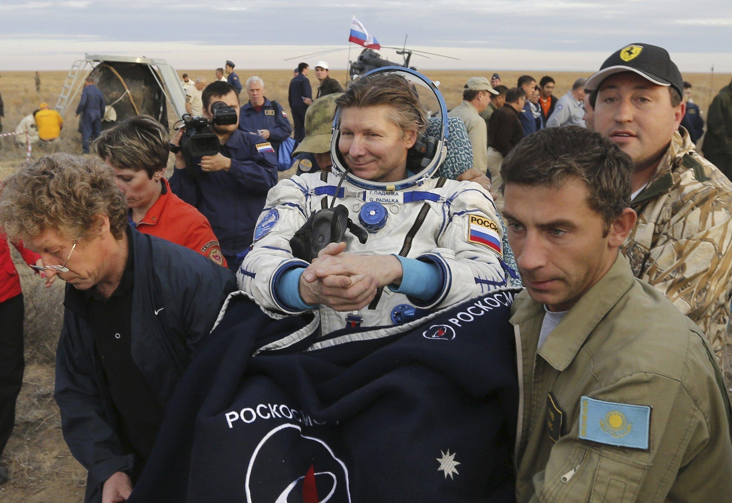 Guennadi Padalka de retour de sa 5ème mission spatiale