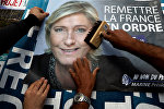 Wahlplakat von Marine Le Pen