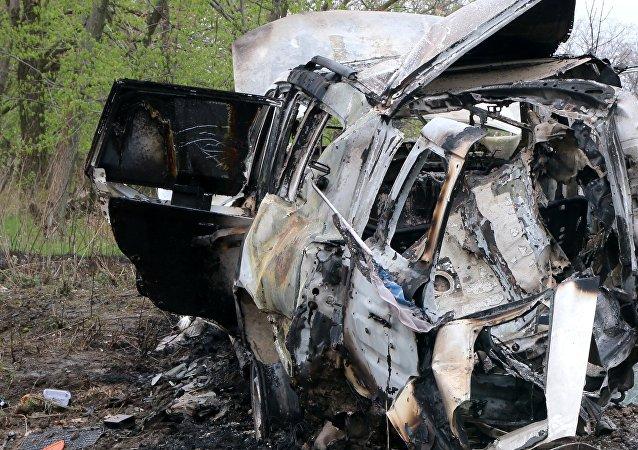 Explosion d'une voiture de l'OSCE