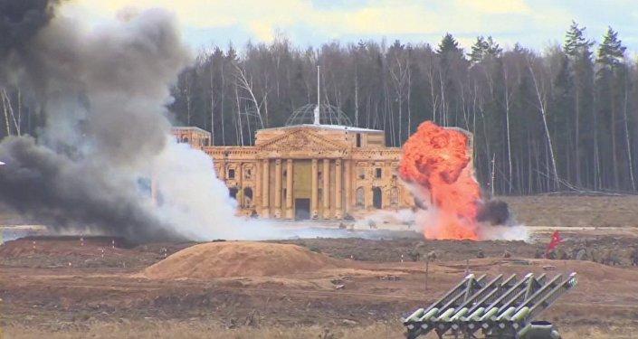 Reconstitution de la bataille de Berlin près de Moscou