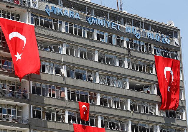 Drapeaux turcs à Ankara