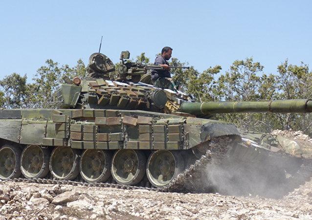 Forces armées syriennes dans la province de Hama