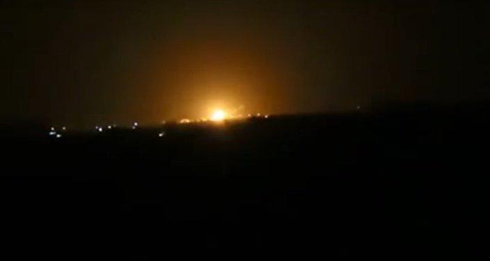 incendie près de l`aéroport de Damas