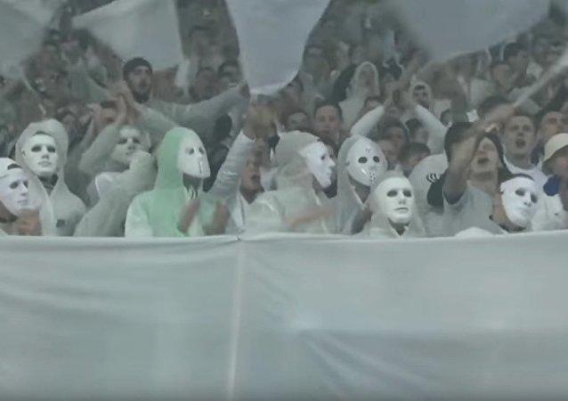 Les supporteurs de l'équipe du Dynamo Kiev