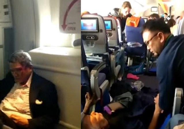 «Il y avait du sang au plafond» témoignent les passagers d'un vol Moscou-Bangkok (vidéo)