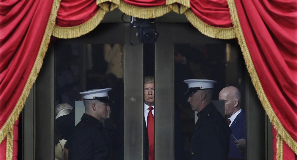 Donald Trump durante la ceremonia de investidura