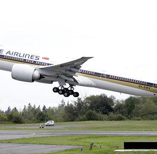 Un Boeing 777 de Singapore Airlines (image d'illustration)