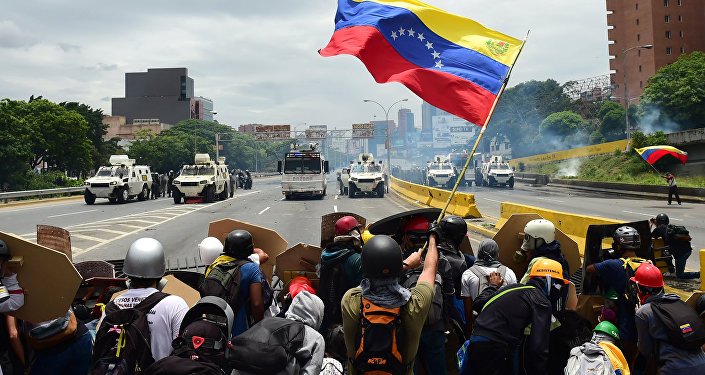 Manifestation à Caracas
