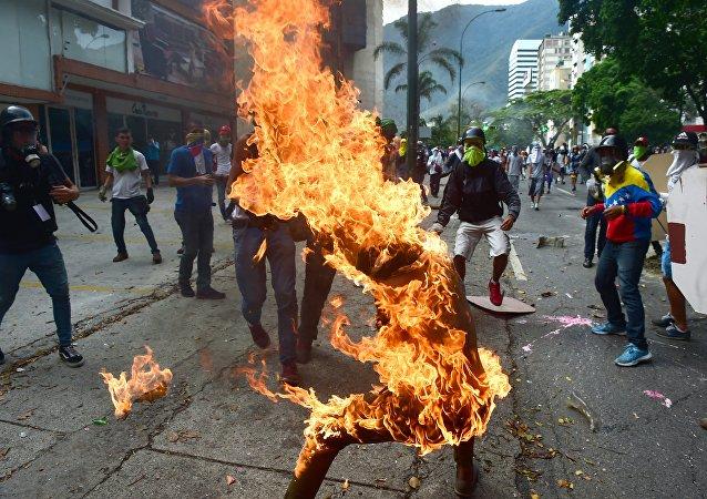 Les manifestations de protestation dans les rues du Venezuela