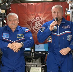Félicitations depuis l'espace
