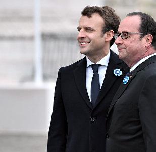 Emmanuel Macron et François Hollande