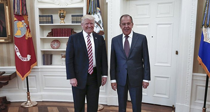 Donald Trump et Sergey Lavrov