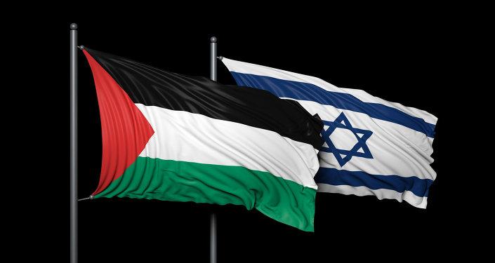 Drapeaux palestinien et israélien