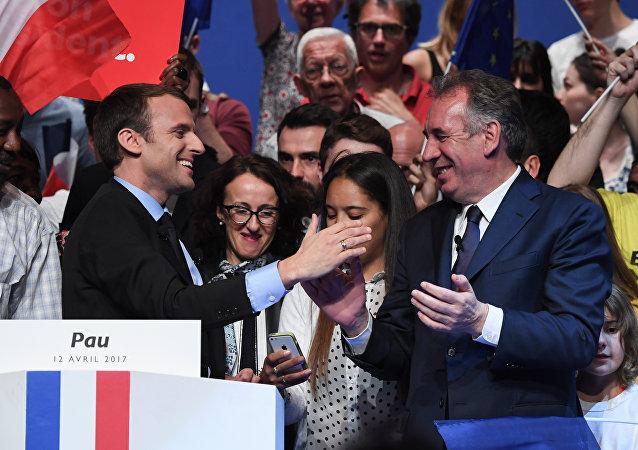 Emmanuel Macron et François Bayrou