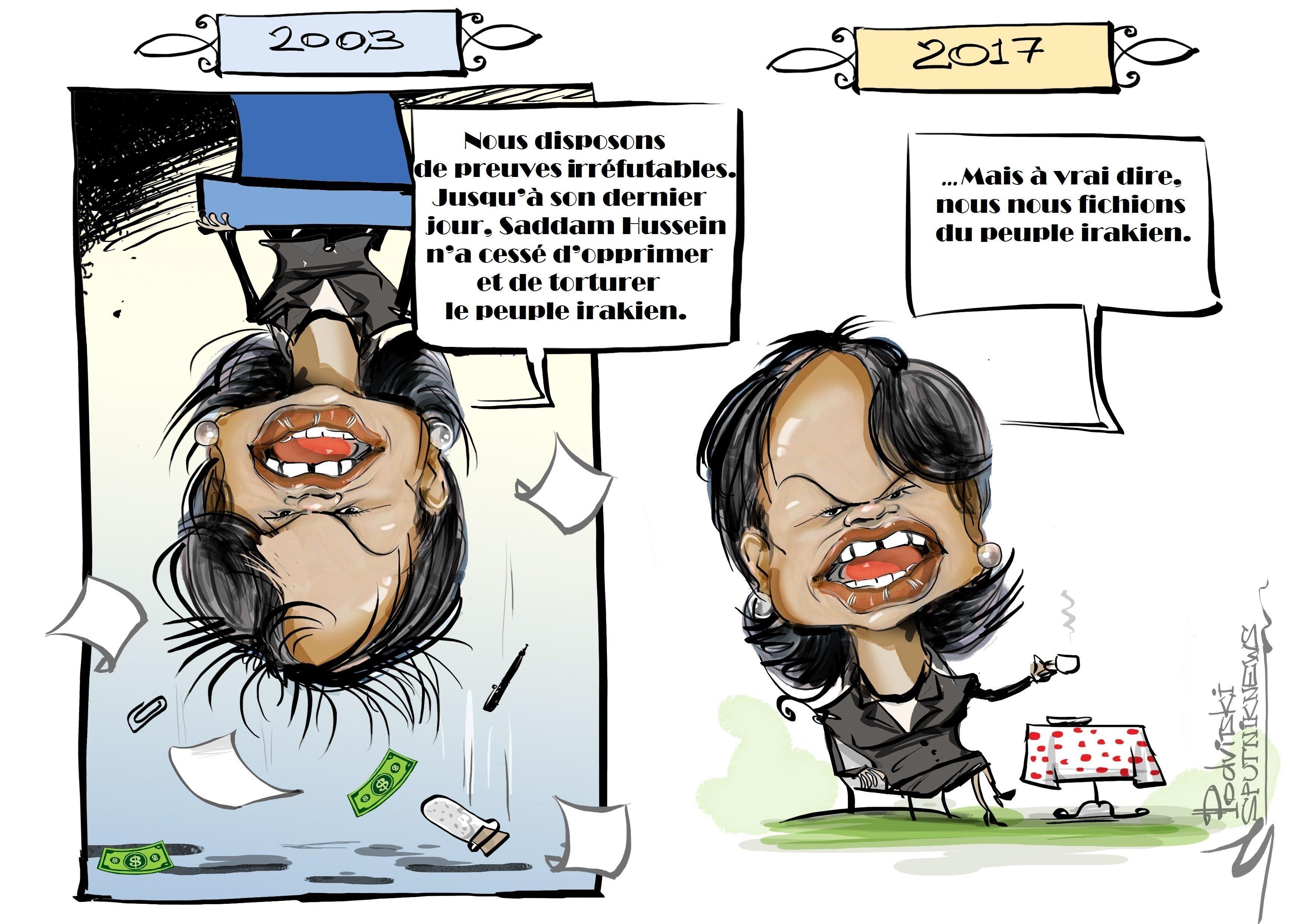 Condoleezza Rice nomme le véritable but poursuivi par les USA lors de l'invasion de l'Irak