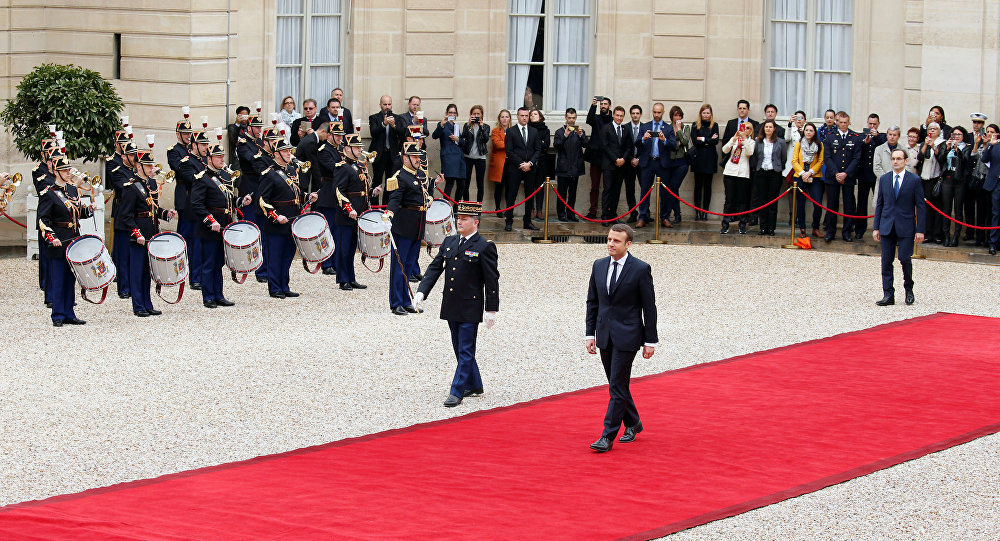 Emmanuel Macron à l'Élysée