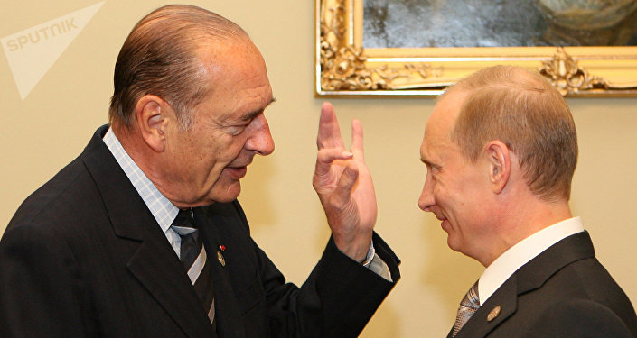 Jacques Chirac et Vladimir Poutine. Archive photo