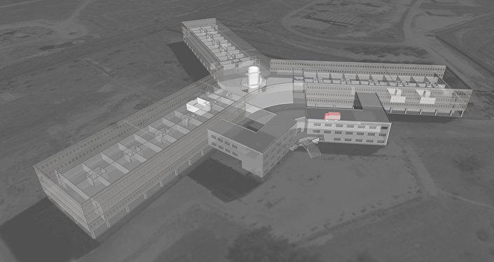 Reconstitution de la prison militaire de Saidnaya en Syrie