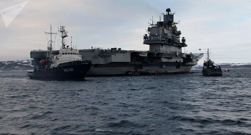 Le porte-avions russe Amiral Kouznetsov