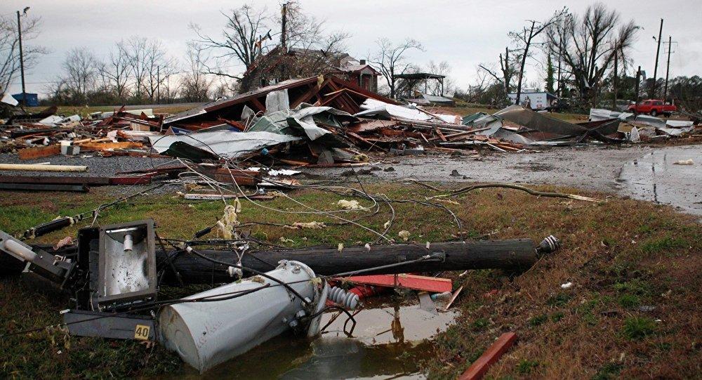 Les conséquences d'une tornade, image d'illustration