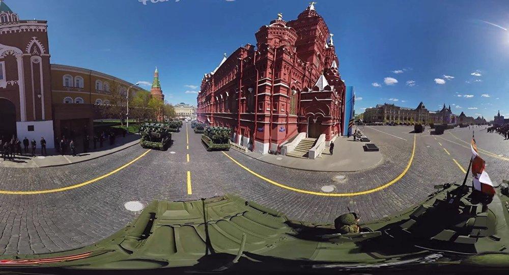 La répétition du défilé de la Victoire en vidéo 360°