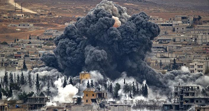 Frappe US en Syrie. Archive photo