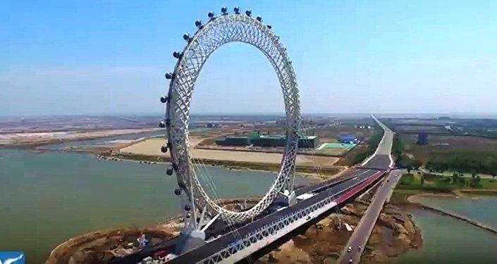 Cette grande roue chinoise est une merveille d'ingénierie