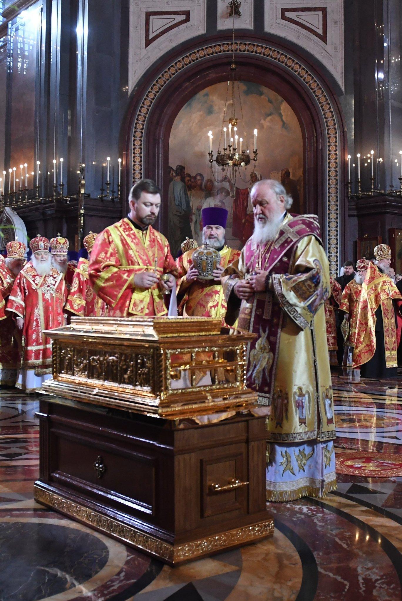 Arrivée des reliques de Saint Nicolas à Moscou