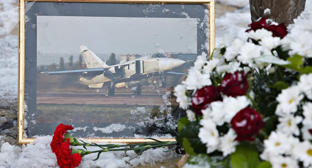 Commémoration d'Oleg Pechkov, pilote du Su-24 russe abattu par la Turquie, archives