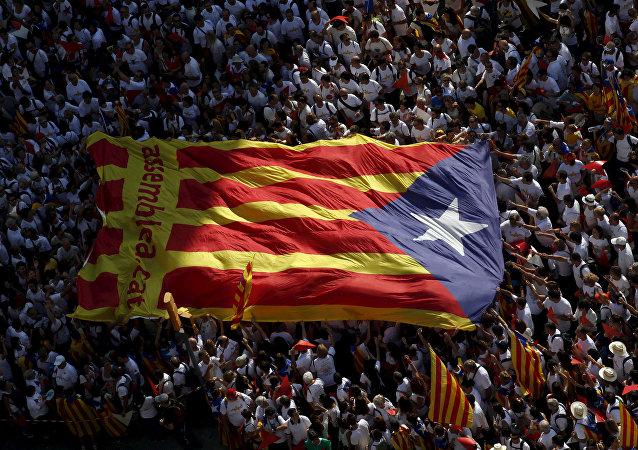 Drapeau séparatiste catalan