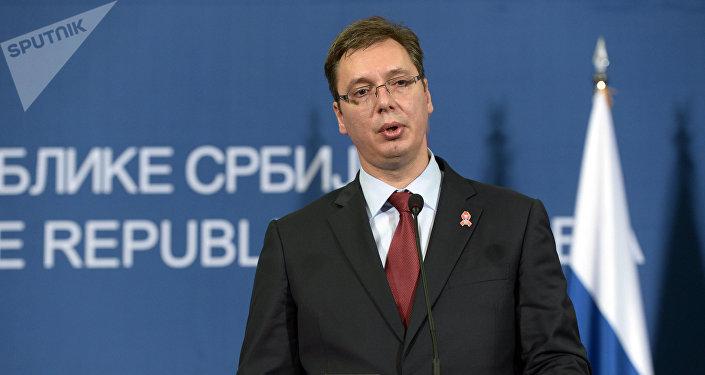 Le Premier ministre et futur Président serbe Aleksandar Vucic