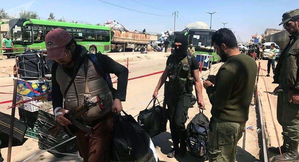 Retrait des combattants de Homs, image d'archives