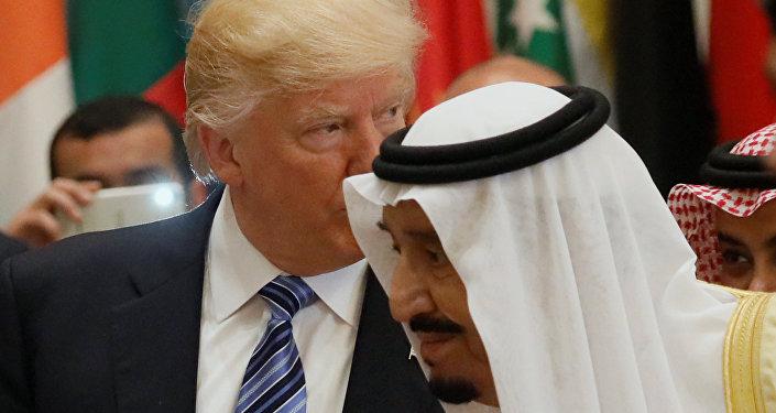 Donald Trump et le roi Salmane ben Abdelaziz Al Saoud