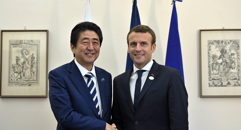 Déclaration commune d'Emmanuel Macron et de Shinzo Abe, sur fond de l'affaire Carlos Ghosn