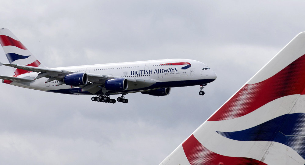A British Airways Airbus A380 lands at Heathrow Airport in London on July 4, 2013. British Airways is the first UK airline to take delivery of the A380 and the first long-haul flight will be to Los Angeles on September 24, 2013