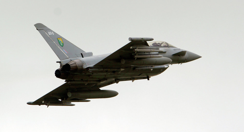 Un chasseur Typhoon de la Royal Air Force (RAF)