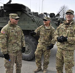 Des militaires américains en Lettonie