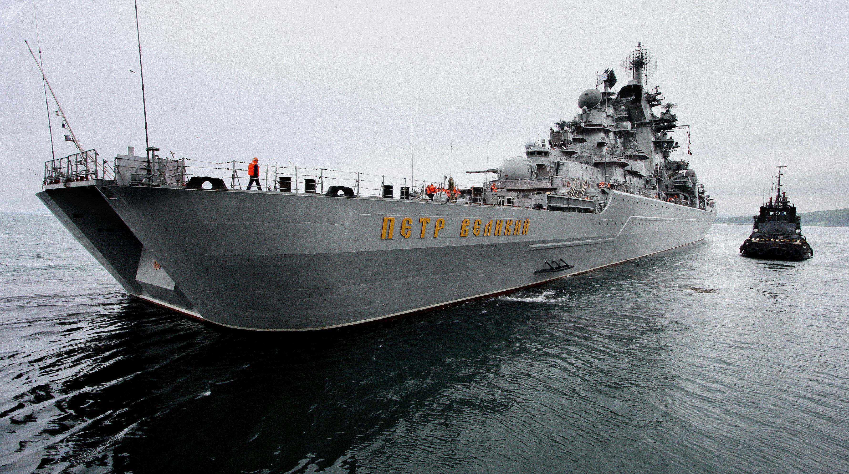 Le croiseur nucléaire lance-missiles Pierre le Grand (Petr Veliki)